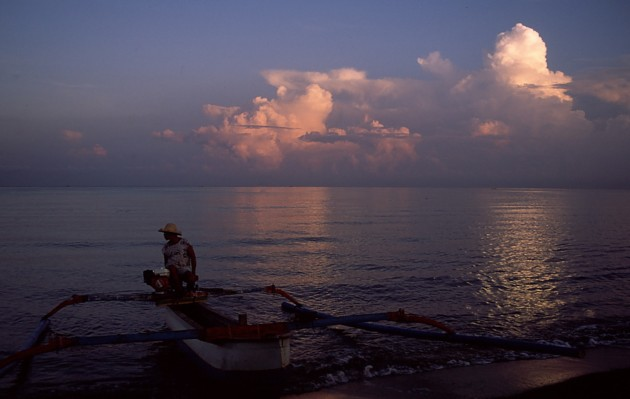 Jukung, traditional Balinese canoe