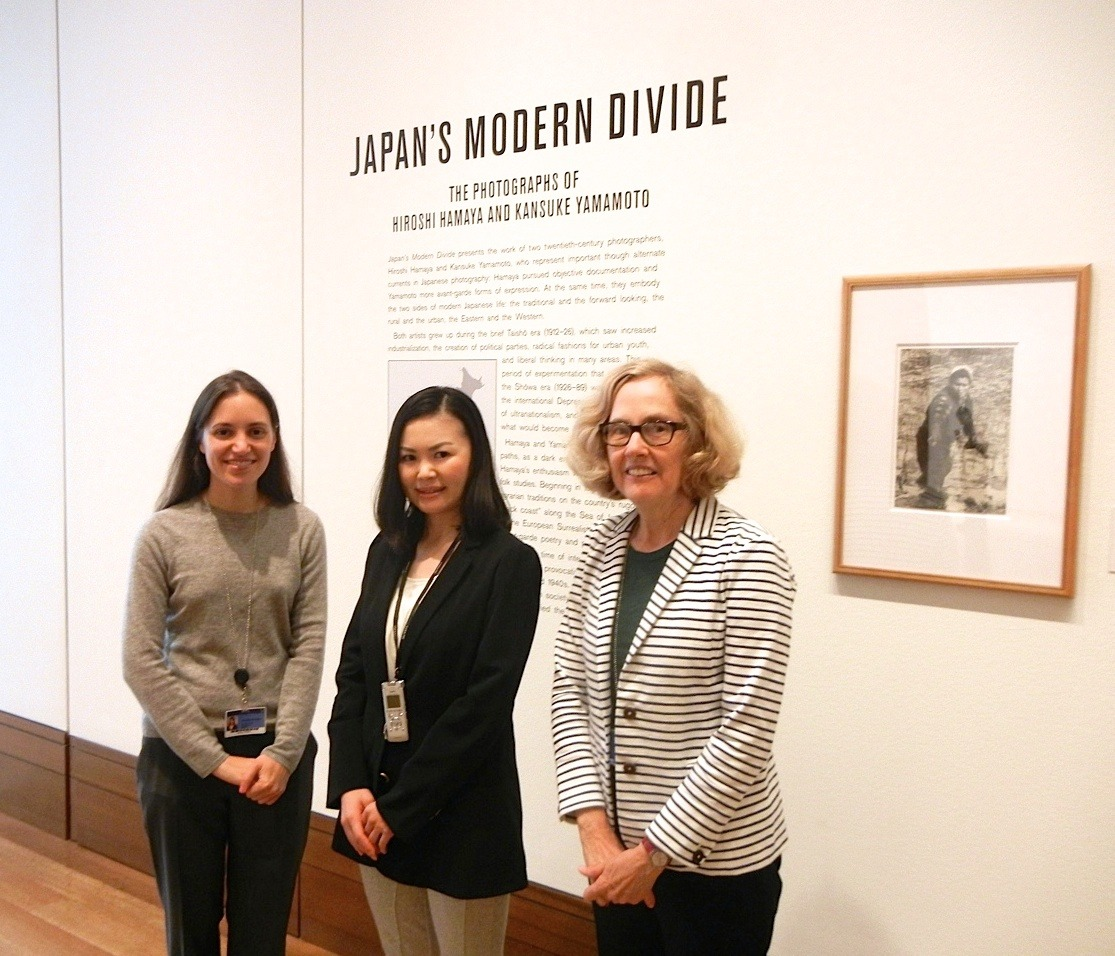 From left: Amanda Maddox, assistant curator of the J. Paul Getty Museum's department of photographs; Eiko Aoki, the author; Judith Keller, senior curator of the J. Paul Getty Museum's department of photographs.