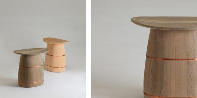 Nakagawa Shuji Oke bucket maker stool Kyoto handmade wood craft
