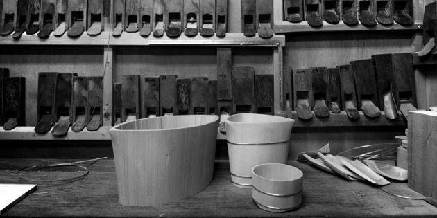 Nakagawa Shuji workshop oke bucket maker Kyoto Japan handmade wood craft