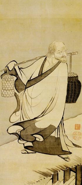 """""""Baisao on Footbridge"""" by Ito Jakuchu"""