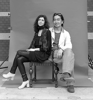 Lucille Reyboz and Yusuke Nakanishi at the first Kyotographie, photo by Kate Barry