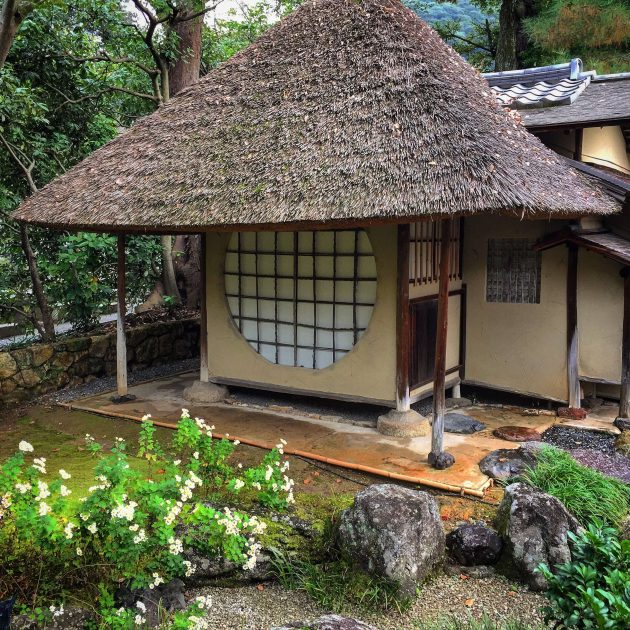 Traditional roofing in Kyoto Japan