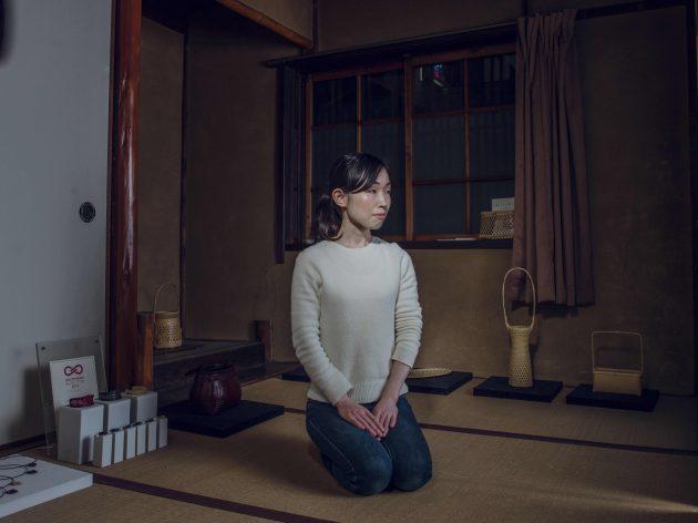 Chiemi Ogura bamboo craftswoman Kyoto photo by Irwin Wong