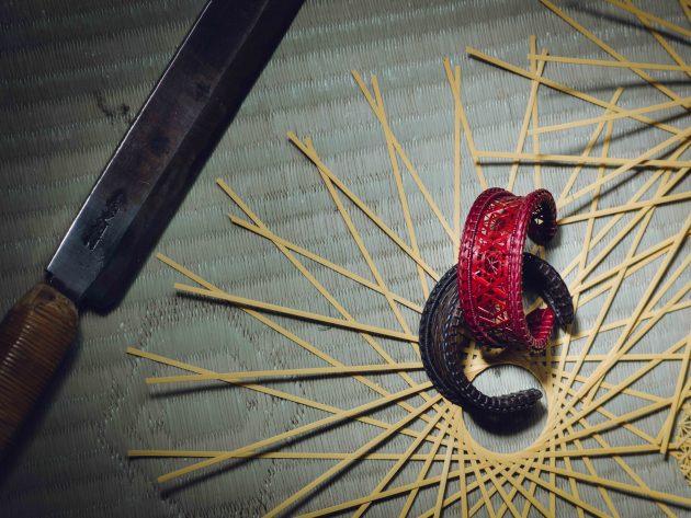 Chiemi Ogura bamboo craftswoman Kyoto photo by Irwin Wong cuff