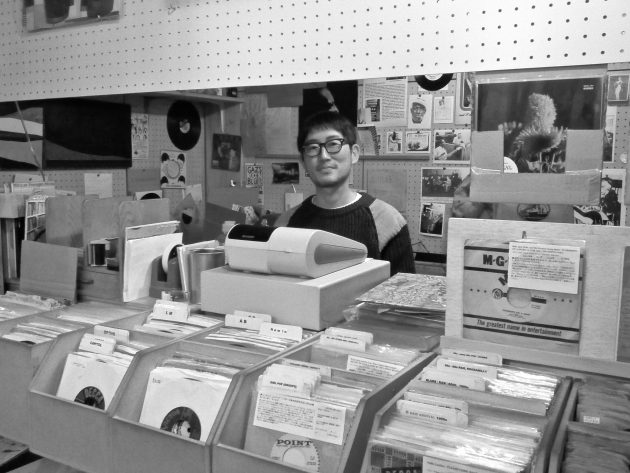 Vintage music record shop in Tokyo Japan