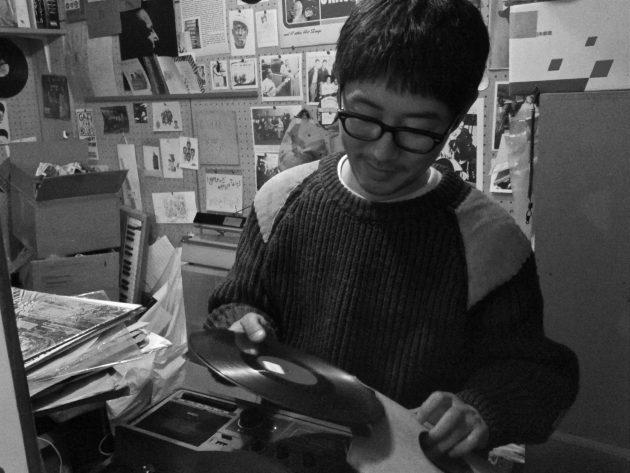 Koya Abe sells vintage records in Tokyo