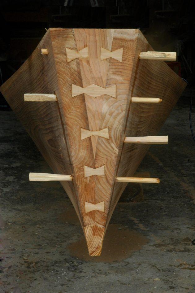 Japanese boatbuilding technique