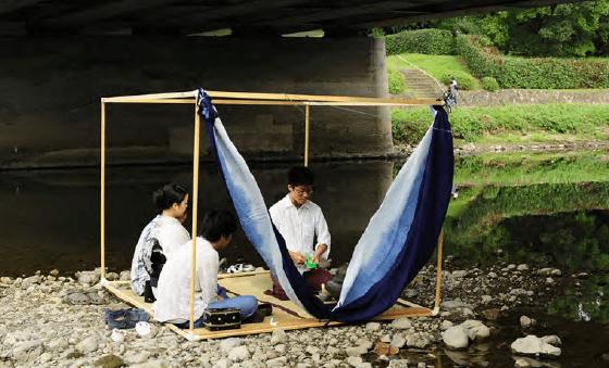 Enjoying tea in Japan