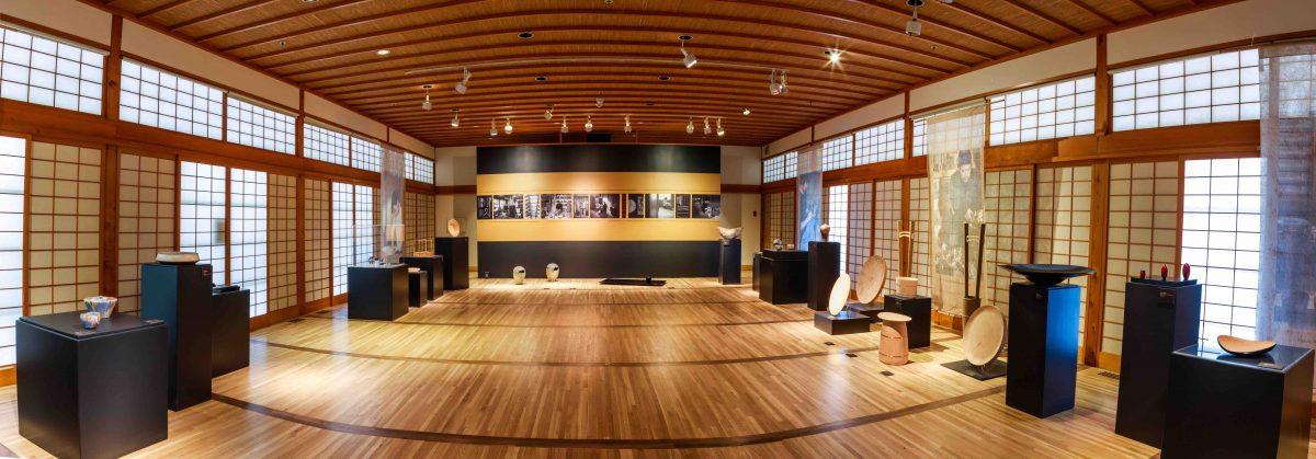 A panorama of the exhibition: Shokunin at Portland Japanese Garden ©Jonathon Ley