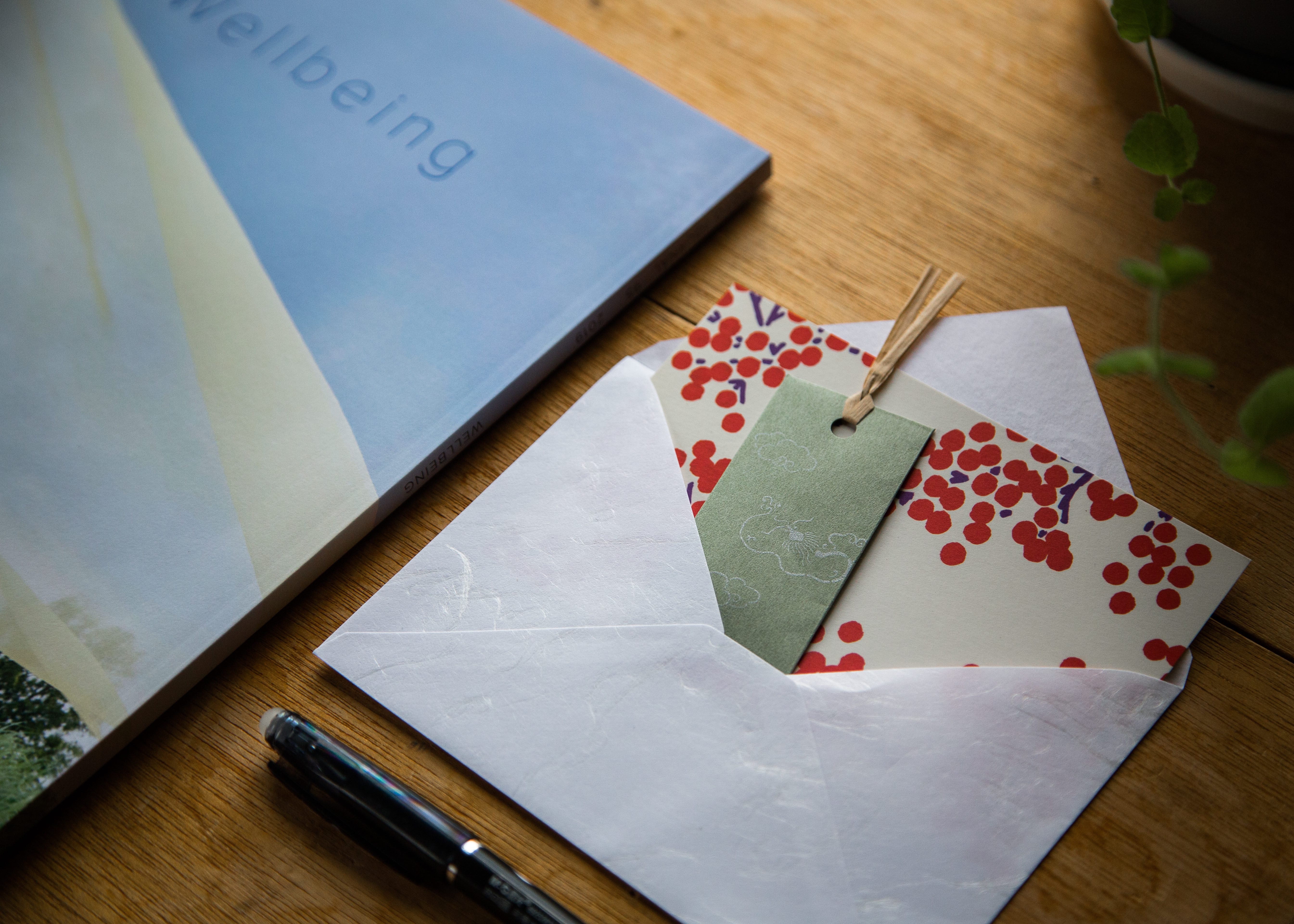 Shoyeido incense greeting card wellbeing issue