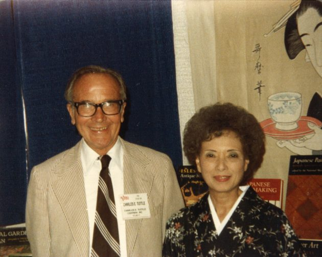 Charles and Reiko at book trade show