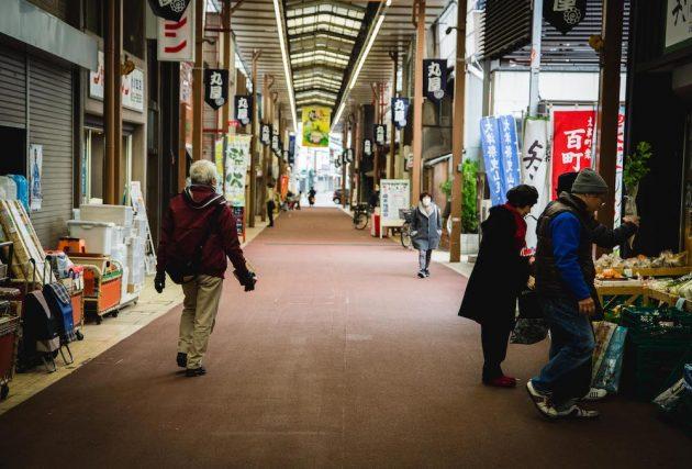 Otsu Hyakucho Edo Tokaido Shotengai shopping arcade Shiga Japan