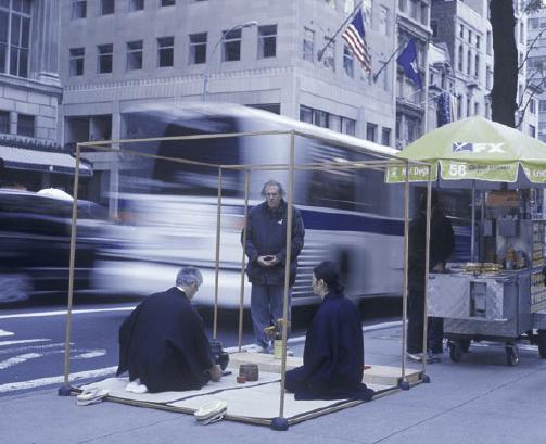 New York tea ceremony outdoors